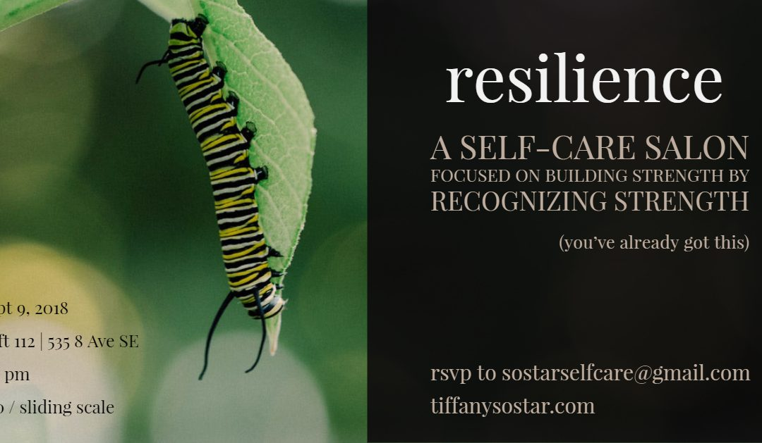 Resilience: self-care salon