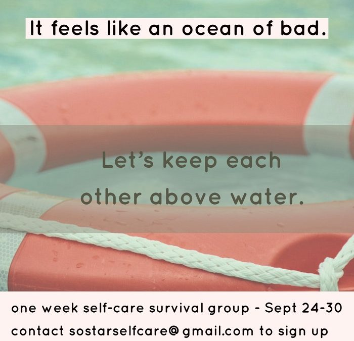 One week self-care survival group