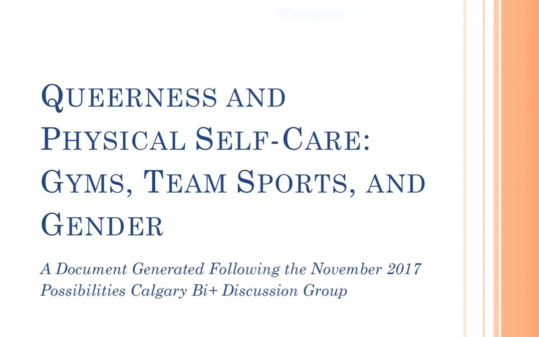 Queerness and Physical Self-Care resource