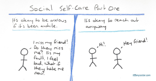 #stickfiguresunday: Social Self-Care pt. 1