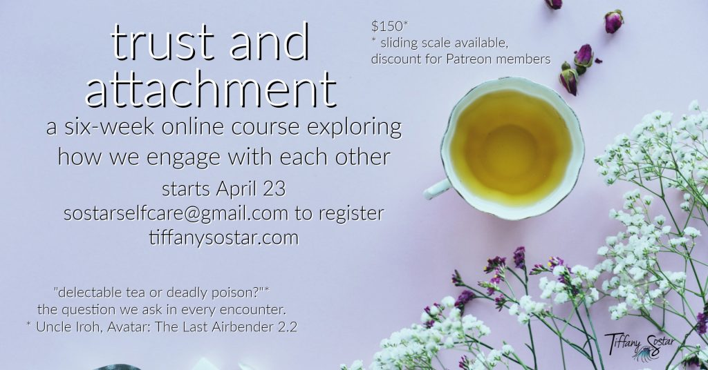 Trust and Attachment online course launch!