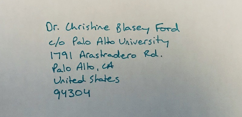 Collective letter to Dr. Ford