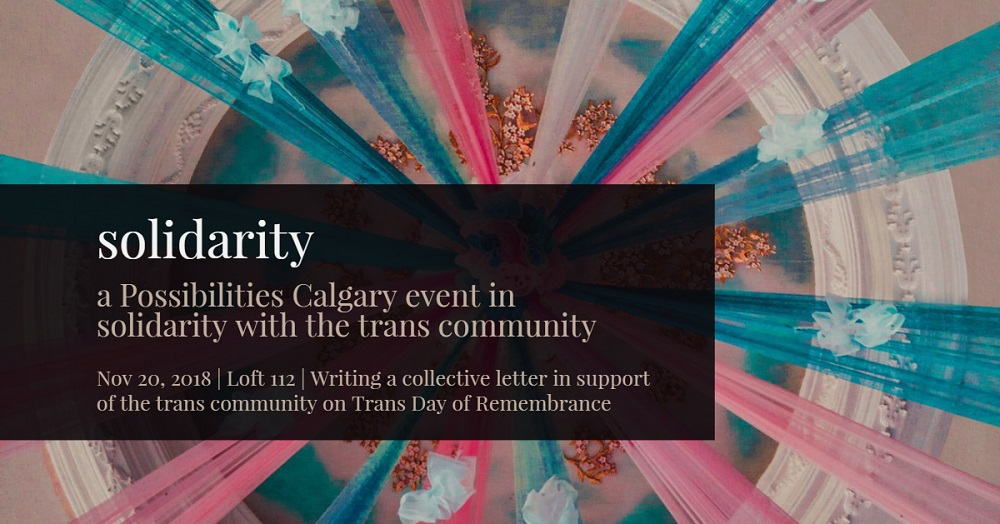 Solidarity: A Possibilities event for TDoR