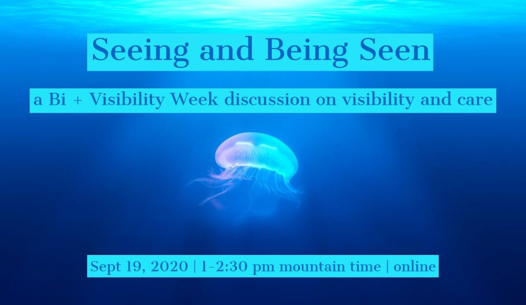 Seeing and Being Seen: A Bi+ Visibility Week Panel on Visibility and Care